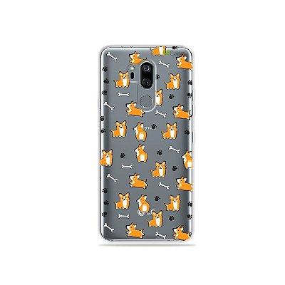 Capinha (transparente) para LG G7 ThinQ - Cãozinho