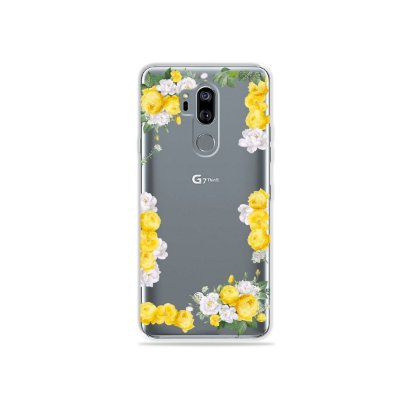 Capinha (transparente) para LG G7 ThinQ - Yellow Roses