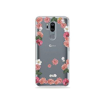 Capinha (transparente) para LG G7 ThinQ - Pink Roses