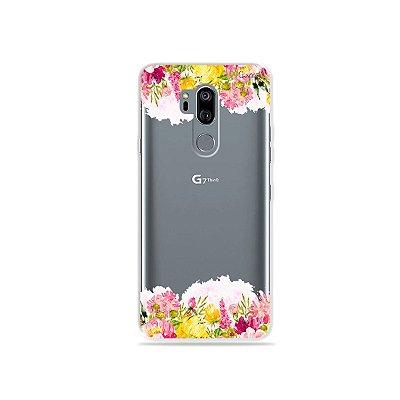 Capinha (transparente) para LG G7 ThinQ - Botânica
