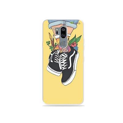 Capinha (transparente) para LG G7 ThinQ - Sneakers