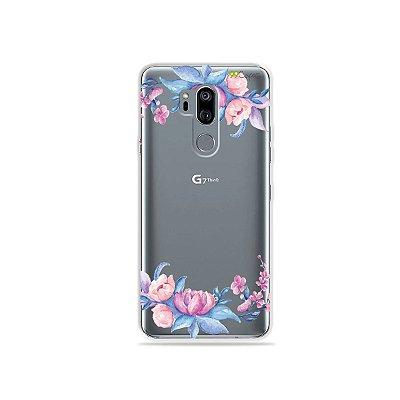 Capinha (transparente) para LG G7 ThinQ - Bromélias