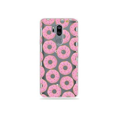 Capinha (transparente) para LG G7 ThinQ - Donuts