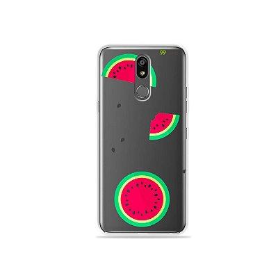 Capinha (transparente) para LG K12 Plus - Melancias