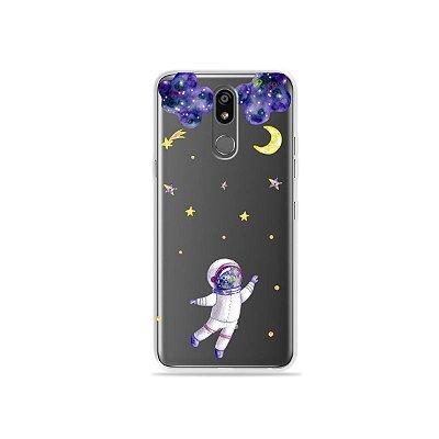 Capinha (transparente) para LG K12 Plus - Astronauta Sonhador
