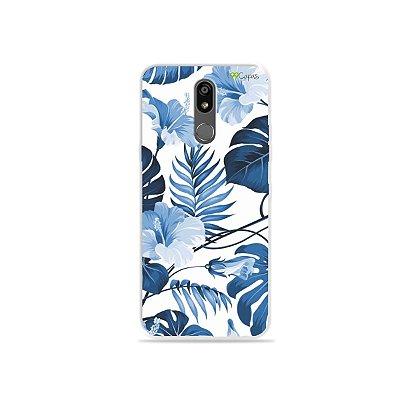 Capinha para LG K12 Plus - Flower in Blue