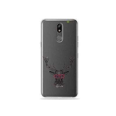 Capinha (transparente) para LG K12 Plus - Alce Hipster