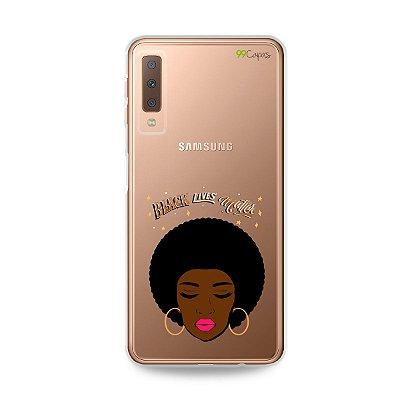 Capinha (transparente) para Galaxy A7 2018  - Black Lives