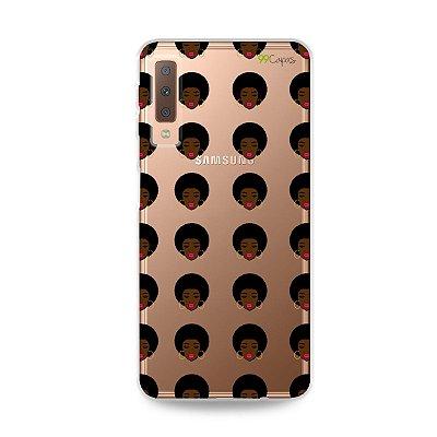 Capinha (transparente) para Galaxy A7 2018 - Black Girl