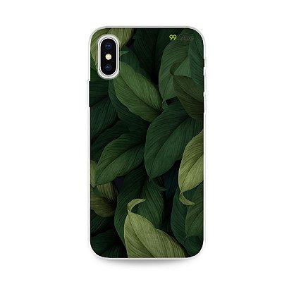 Capinha para iPhone X/XS - Folhas