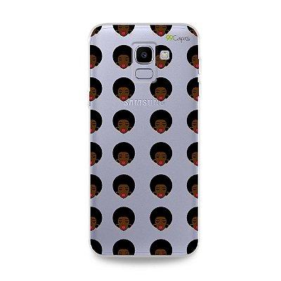 Capinha (transparente) para Galaxy J6 - Black Girl