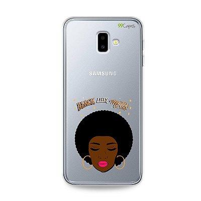 Capinha (transparente) para Galaxy J6 Plus - Black Lives