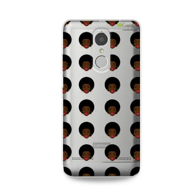 Capinha (transparente) para Lenovo K6 - Black Girl