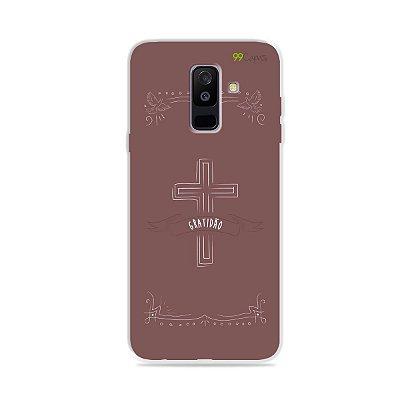 Capinha para Galaxy A6 Plus - Gratidão