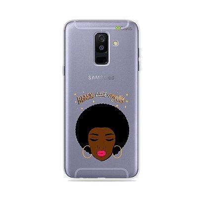 Capinha (transparente) para Galaxy A6 Plus - Black Lives