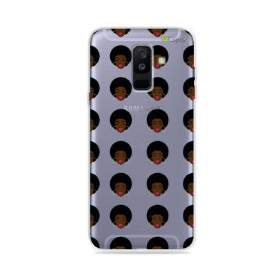 Capinha (transparente) para Galaxy A6 Plus - Black Girl