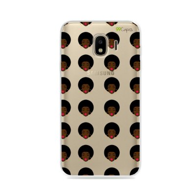 Capinha (transparente) para Galaxy J4 2018 - Black Girl