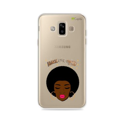Capinha (transparente) para Galaxy J7 Duo - Black Lives