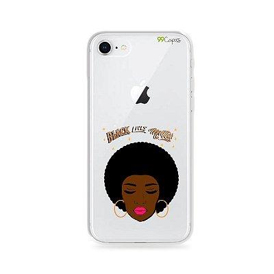 Capinha (transparente) para iPhone 8 - Black Lives