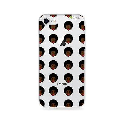Capinha (transparente) para iPhone 8 - Black Girl