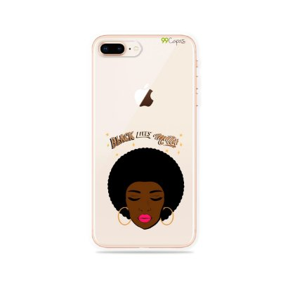 Capinha (transparente) para iPhone 8 Plus - Black Lives