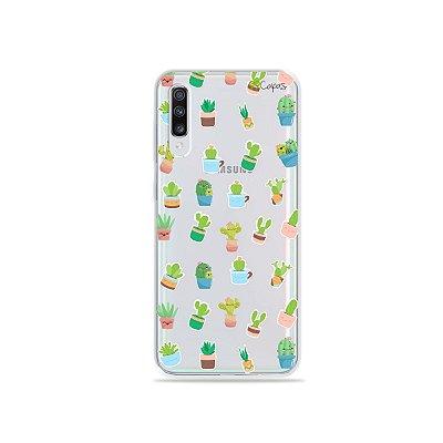 Capinha (transparente) para Galaxy A70s - Cactus