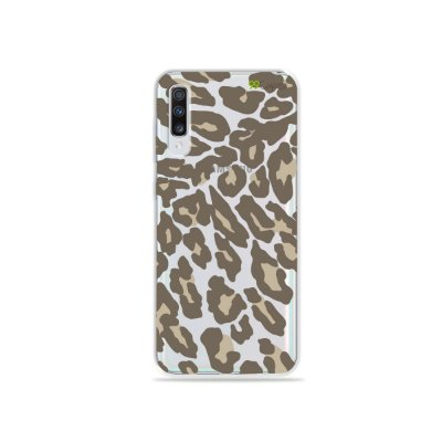Capinha (transparente) para Galaxy A70s - Animal Print Nude