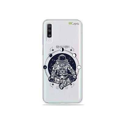 Capinha (transparente) para Galaxy A70s - Astronauta