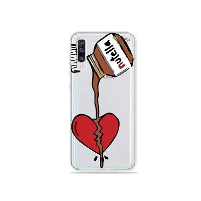 Capinha (transparente) para Galaxy A70s - Nutella