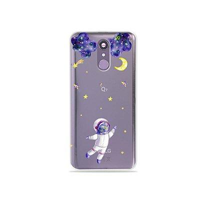 Capinha (transparente) para LG Q7 - Astronauta Sonhador