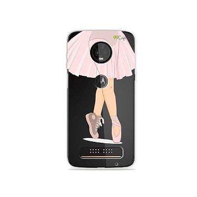 Capinha (transparente) para Moto Z3 Play - Ballet