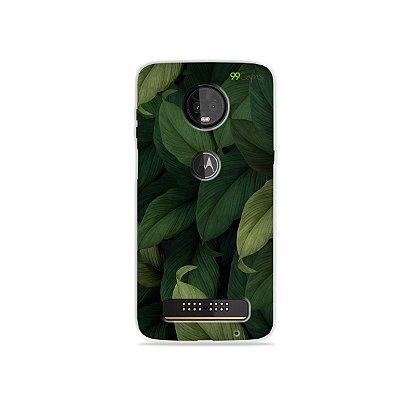 Capinha para Moto Z3 Play - Folhas