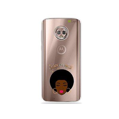 Capinha (transparente) para Moto G6 Plus - Black Lives
