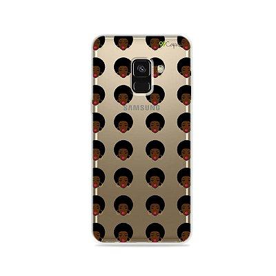Capinha (transparente) para Galaxy A8 - Black Girl