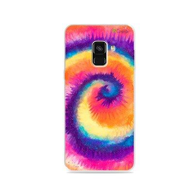Capinha para Galaxy A8 - Tie Dye Roxo