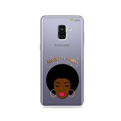 Capinha (transparente) para Galaxy A8 Plus - Black Lives