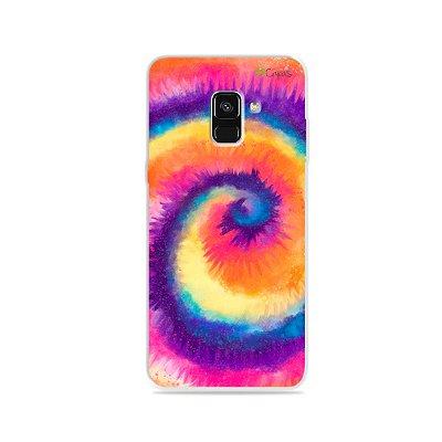 Capinha para Galaxy A8 Plus - Tie Dye Roxo