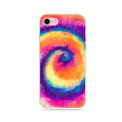 Capinha para iPhone 7 - Tie Dye Roxo