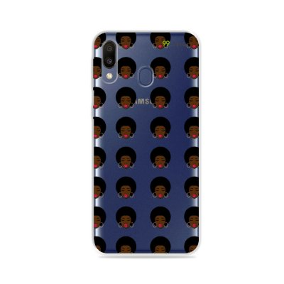 Capinha (transparente) para Galaxy M20 - Black Girl