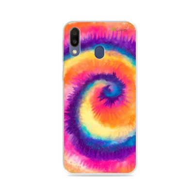 Capinha para Galaxy M20 - Tie Dye Roxo