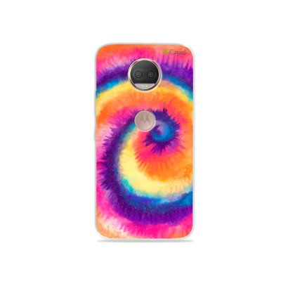 Capinha para Moto G5S Plus - Tie Dye Roxo
