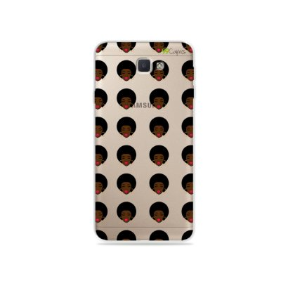 Capinha (transparente) para Galaxy J7 Prime - Black Girl