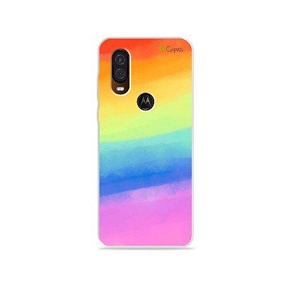 Capinha para Moto One Vision - Rainbow