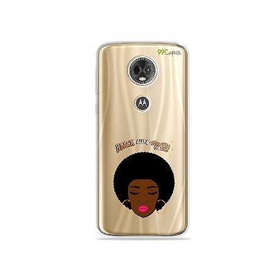 Capa para Moto E5 Plus - Black Lives