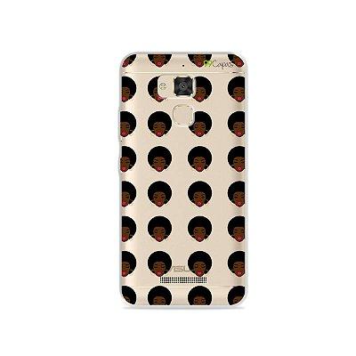 Capinha (transparente) para Asus Zenfone 3 Max- 5.2 Polegadas - Black Girl