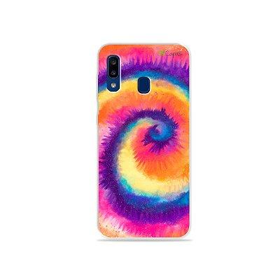 Capinha para Galaxy A20 - Tie Dye Roxo