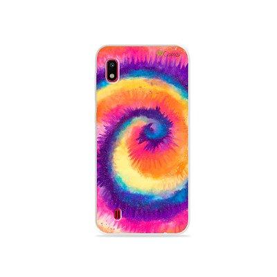 Capinha para Galaxy A10 - Tie Dye Roxo