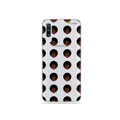 Capinha (transparente) para Galaxy A70 - Black Girl