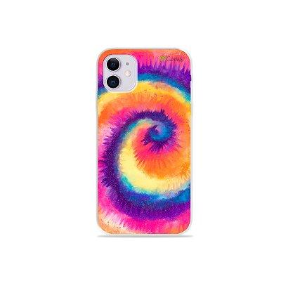 Capinha para iPhone 11 - Tie Dye Roxo
