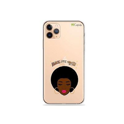 Capinha (transparente) para iPhone 11 Pro - Black Lives